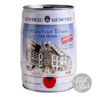 Bia Hofbrau Munchner Weisse Hefe Weizen 5,1% – Bom 5 Lít – Thùng 2 Bom
