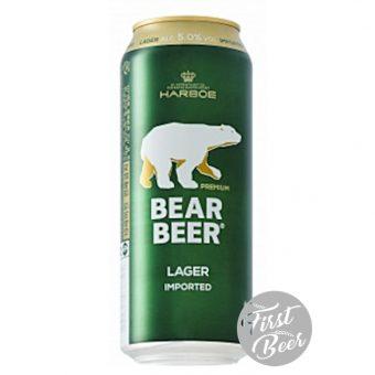 Bia Gấu Bear Beer Premium Lager 5% – Lon 500ml – Thùng 24 Lon