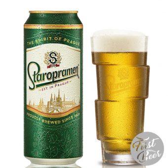 Bia Staropramen lon 500ml - bia tiệp nhập khẩu