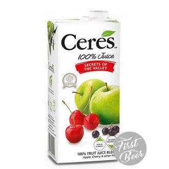 Nước ép trái cây Ceres hương nho, táo, cherry - hộp 1l