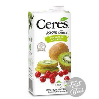 Nước ép trái cây Ceres hương việt quất, kiwi - hộp 1l