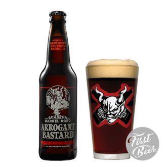 Bia Bourbon Barrel-Aged Arrogant Bastard - 8,1% - Chai 330ml - Thùng 24 chai
