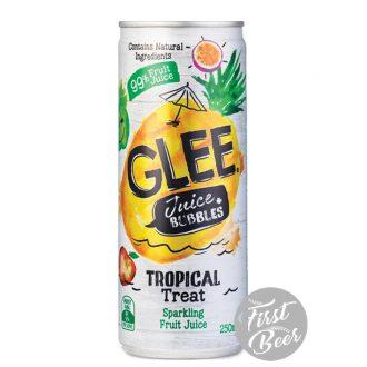 Nước trái cây có ga Glee hương dứa - lon 250ml