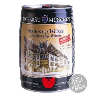 Bia Hofbräu Schwarze Weisse 5.1% – Bom 5l – Thùng 2 Bom