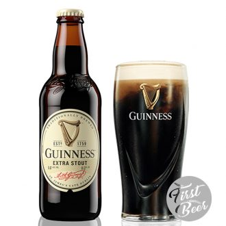 Bia Guinness Extra Stout 5.6% – Chai 330ml – Thùng 24 Chai