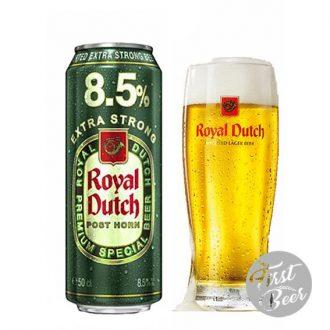 Bia Royal Dutch Post Horn Extra Strong 8,5% – Lon 500ml – Thùng 24 Lon