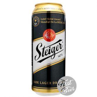 Bia Steiger 1473 Dark 4,5% – Lon 500ml – Thùng 24 Lon