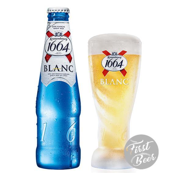 Bia Kronenbourg 1664 Blanc 5% – Chai 250ml – Thùng 24 Chai