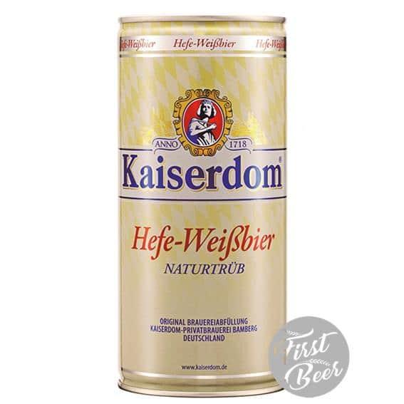 Bia Kaiserdom Hefe Weissbier 4.7% – Lon 1lit – Thùng 12 Lon