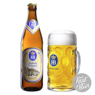 Bia Hofbrau Original 5,1% – Chai 500ml – Thùng 20 Chai