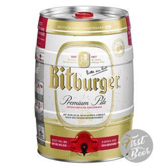 Bia Bitburger 4,8% - Bom 5l - Thùng 2 bom