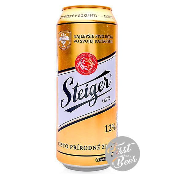 Bia Steiger 1473 Gold 5,0% – Lon 500ml – Thùng 24 Lon