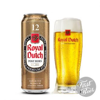 Bia Royal Dutch Gold Super Strong 12% – Lon 500ml – Thùng 24 Lon