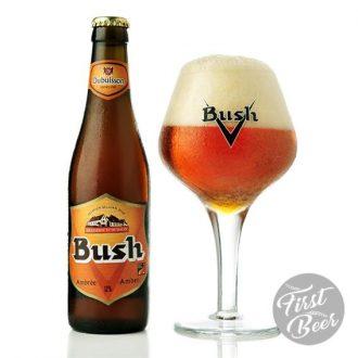 Bia Bush Amber Tripel 12% – Chai 330ml – Thùng 24 Chai