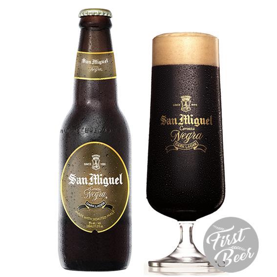 Bia San Miguel Dark Lager 5% – Chai 330ml – Thùng 24 Chai