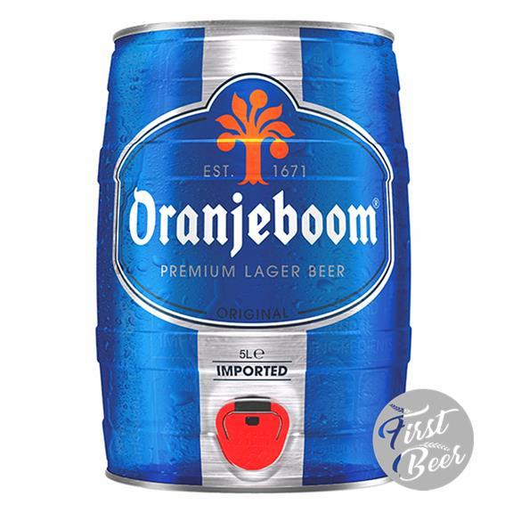 Bia Oranjeboom Lager Imported 5% – Bom 5l – Thùng 2 Bom