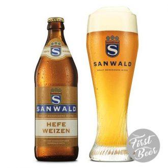 Bia Sanwald Hefeweizen 4.9% – Chai 500ml – Thùng 20 Chai