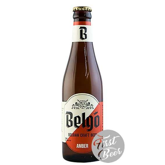 Bia thủ công Bỉ Belgo Amber 5.1% - Chai 330ml - Thùng 24 chai