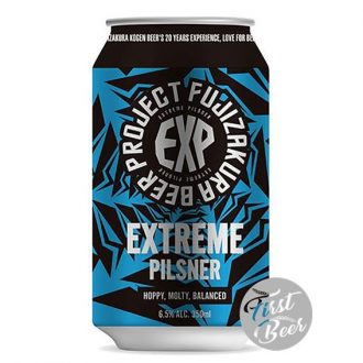 Bia Fujizakura Extreme Pilsner 5.5% – Lon 350ml – Thùng 24 Lon