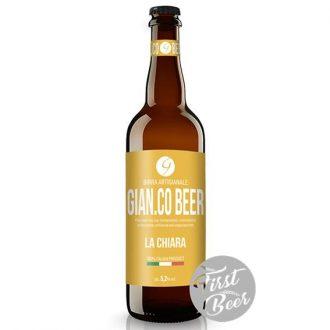 Bia GIAN.CO BEER La Chiara 5.2% - chai 750ml - Thùng 6 chai