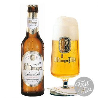 Bia Bitburger vị đắng 4,8% - Chai 330ml - Thùng 24 chai