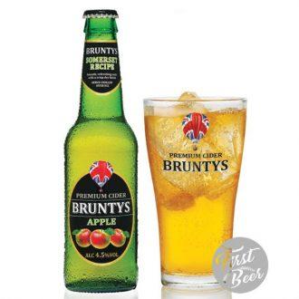 Bia Trái Cây Bruntys Cider Hương Táo - 4.5% - Chai 330ml - Thùng 24 Chai