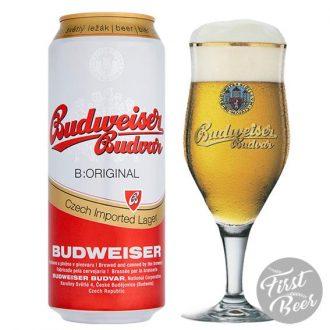 Bia Budweiser Budvar Original 5% – Lon 500ml – Thùng 24 Lon