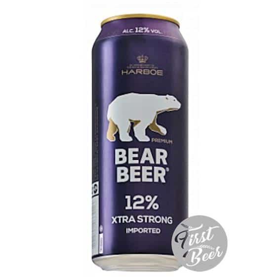 Bia Gấu Bear Beer Extra Strong 12% – Lon 500ml – Thùng 24 Lon