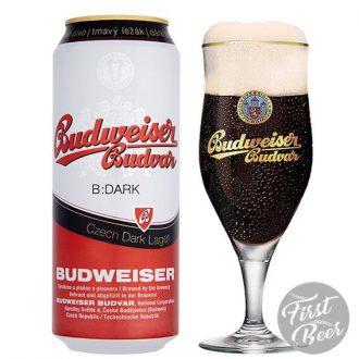 Bia Budweiser Budvar Dark 4,7% – Lon 500ml – Thùng 24 Lon