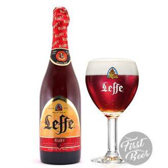 Bia Leffe Ruby 5,0% – Chai 750ml – Thùng 6 Chai