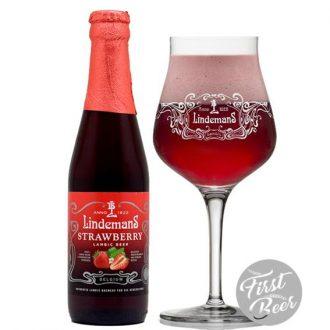 Bia Lindemans Strawberry 3.5% – Chai 250ml – Thùng 24 Chai