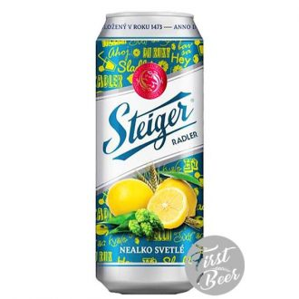 Bia không cồn Steiger Radler Lemon – Lon 500ml – Thùng 24 Lon
