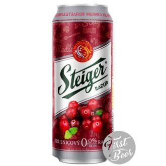 Bia không cồn Steiger Radler Cranberry – Lon 500ml – Thùng 24 Lon