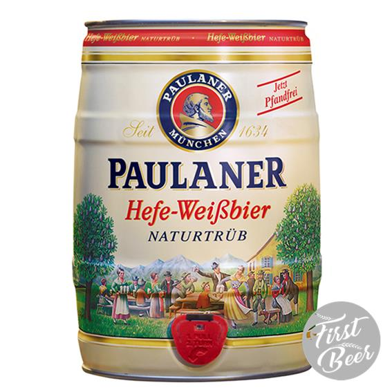 Bia Paulaner Hefe Weissbier 5,5% – Bom 5l – Thùng 2 Bom