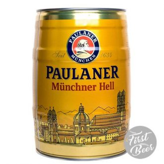 Bia Paulaner Munchner Hell 4,9% – Bom 5l – Thùng 2 Bom