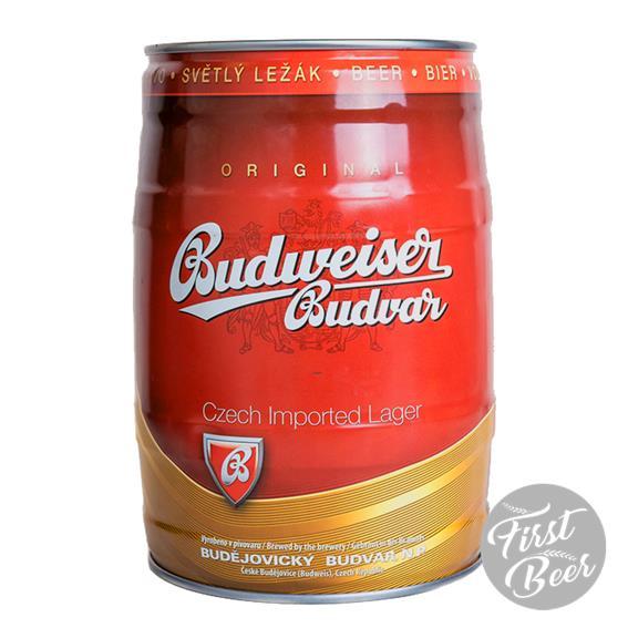 Bia Budweiser Budvar 5% – Bom 5l – Thùng 2 Bom