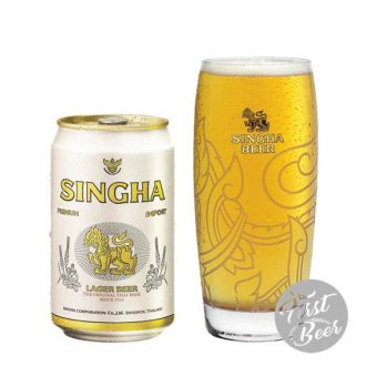 Bia Singha 5% – Lon 330ml – Thùng 24 Lon