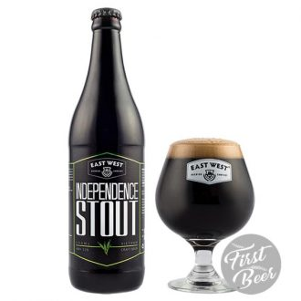 Bia East West Independence Stout 12% – Chai 500ml – Thùng 12 Chai