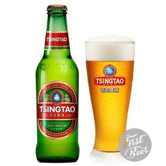Bia Tsingtao 4.8% – Chai 300ml – Thùng 24 Chai