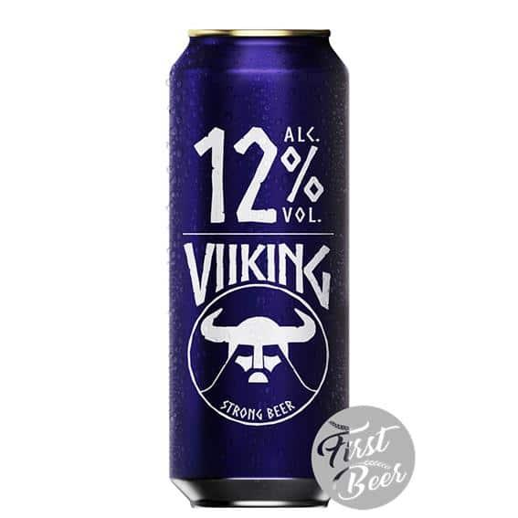 Bia Viiking Strong 12% – Lon 500ml – Thùng 24 Lon