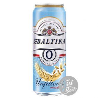 Bia Không Cồn Baltika 0 Wheat Unfiltered – Lon 450ml – Thùng 24 Lon