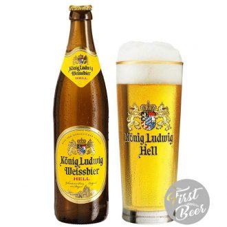 Bia Konig Ludwig Weissbier 5,5% – Chai 500ml – Thùng 20 Chai