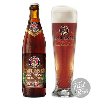Bia Paulaner Hefe Weissbier Dunkel 5.3% – Chai 500ml – Thùng 20 Chai