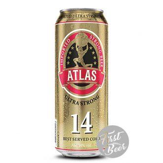 Bia Atlas Utltra Strong 14% – Lon 500ml – Thùng 24 Lon