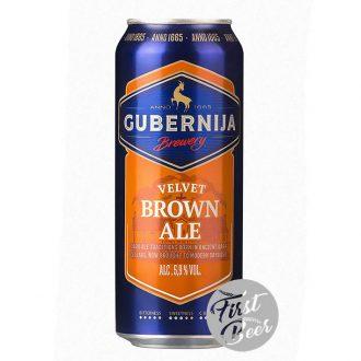 Bia Gubernija Velvet Brown Ale 5.9% – Lon 500ml – Thùng 24 Lon