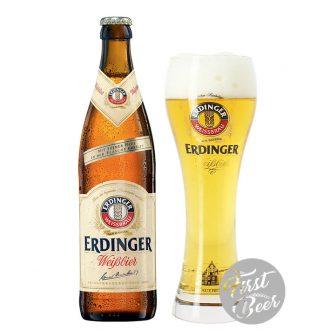 Bia Erdinger Weissbier 5.3% – Chai 500ml - Thùng 12 chai